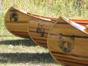 Hand Crafted Cedar Canvas Cedar Epoxy Canoes