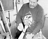 Master Canoe Builder at work